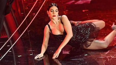 Georgina Rodríguez acaba por los suelos en el festival de SanRemo y sorprende con esta coreografía