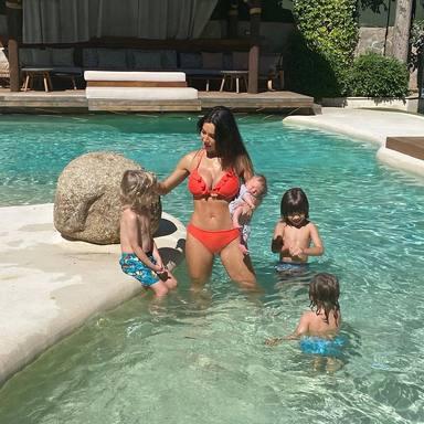 Pilar Rubio posado en bikini posparto