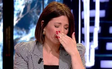 Nagore Robles no puede contener las lágrimas tras volver de visitar a su familia