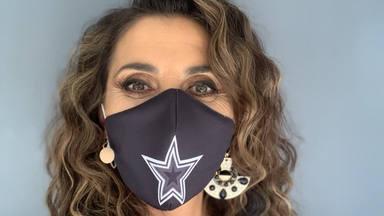 Paz Padilla, con una mascarilla de 'Got Talent', en una foto de sus redes sociales