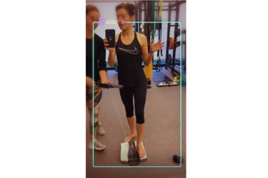 Pilar Rubio se pesa en el gimnasio
