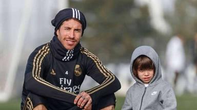 La divertida manera que tienen los hijos de Sergio Ramos para animar a su padre antes de un partido