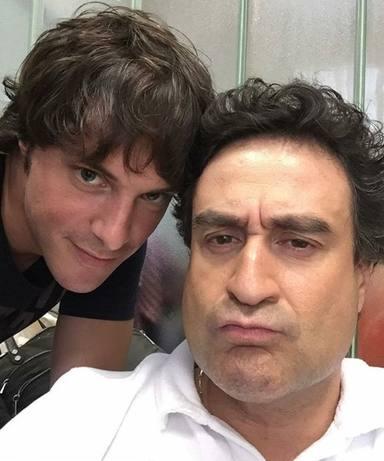 Pepe Rodríguez con Jordi Cruz en una grabación
