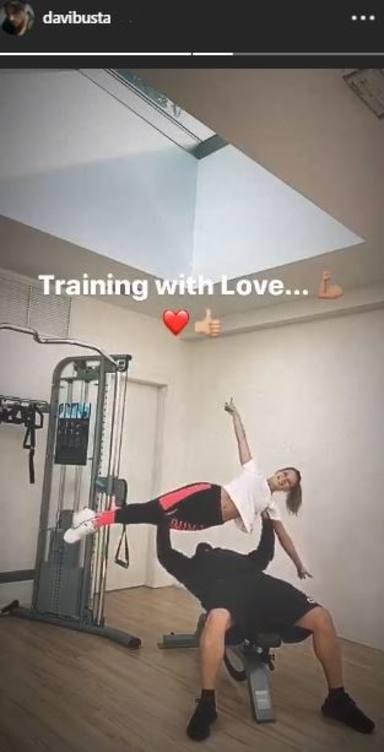 El entrenamiento más extravagante de David Bustamante y Yana Olina