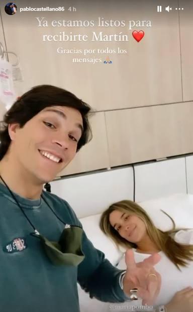 Primera foto María Pombo en el hospital antes de ser madre