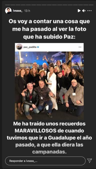 Iván Martín comenta la foto de Paz Padilla