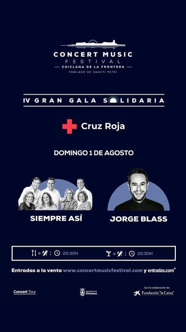 Así será la Gran Gala Solidaria del Concert Music Festival a favor de Cruz Roja