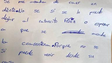 Los niños se preguntan si puede ir el Ratoncito Pérez y éste responde en una divertida carta