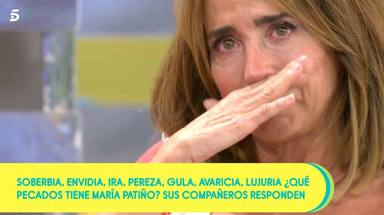 Las lágrimas de María Patiño en Sálvame al hablar de la situación actual