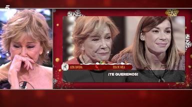 Mila Ximénez lágrimas sorpresa Alba Santana y nietos