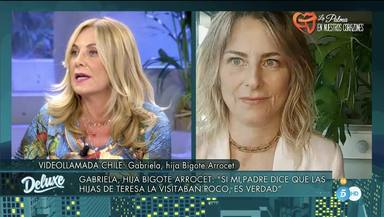 Belén Rodríguez se enfrenta con mucha dureza a Gabriela Arrocet, dando la cara por María Teresa Campos