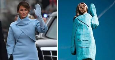 Controvèrsia per una estàtua de Melània Trump al seu país natal