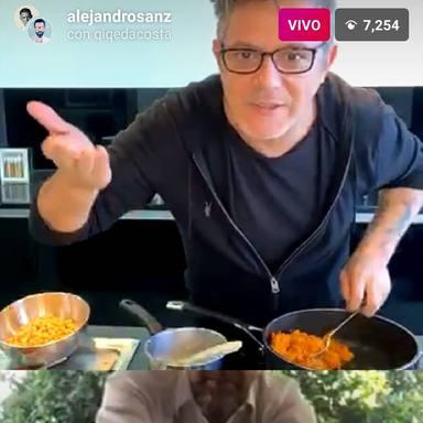 Alejandro Sanz enseña unas recetas fáciles para la cuarentena