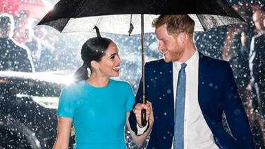 Harry y Meghan a su llegada a la London's Mansion House