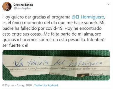 La tarjeta de El Hormiguero