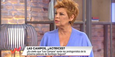 Terelu Campos enfadada con Santiago Segura