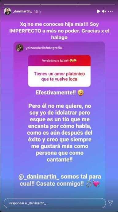 Dani Martín responde a una seguidora