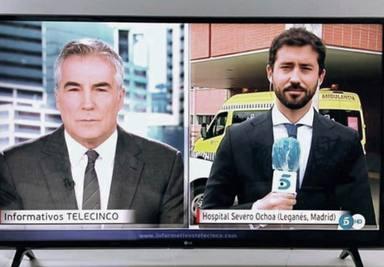 David Cantero se muestra orgulloso de su hijo periodista Ávaro Berro