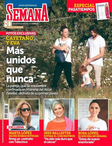 Cayetano Rivera y Eva González en su primer paseo en la cuarentena