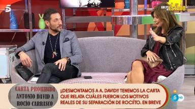 Gema López saca a la luz una carta comprometida que Antonio David envió a Rocío Carrasco
