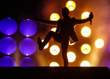 David Bisbal sobre el escenario del Concert Music Festival de Sancti Petri