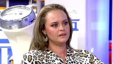 Shaila Dúrcal durante su complicada entrevista en el 'Deluxe' hablando de sus problemas con la comida