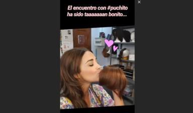 Paula Echevarría se reencuentra con su flequillo postizo, Puchito