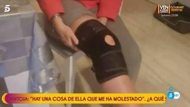 Belén Esteban accidente rodilla