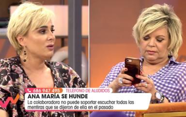 El enganchón entre Terelu Campos y Ana María Aldón por unas imágenes de hace ocho años en 'Sálvame'