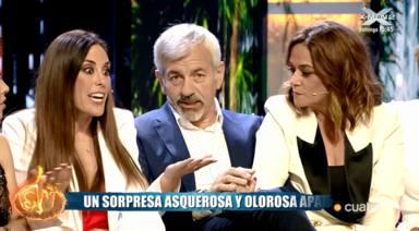 Isabel Rábago, Carlos Sobera y Toñi Moreno en 'Supervivientes 2019'