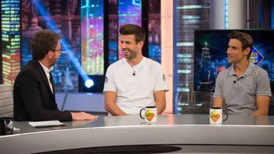 Gerard Piqué y David Ferrer en 'El Hormiguero'
