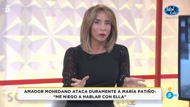 María Patiño carga contra Amador Mohedano en 'Socialité'