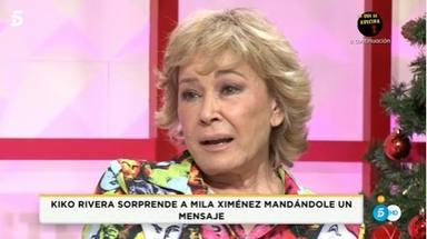 Lágrimas Mila Ximénez tras recibir mensaje de Kiko Rivera