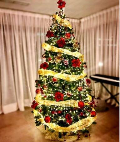 Árbol Navidad Malú guiño a su hija Lucía