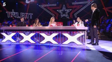 Edurne y Paz Padilla, muy emocionadas, rompen a llorar tras la despedida de Risto Mejide de 'Got Talent'