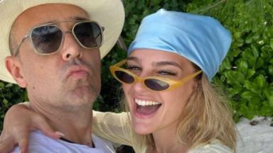 Risto Mejide y Laura Escanes durante sus vacaciones