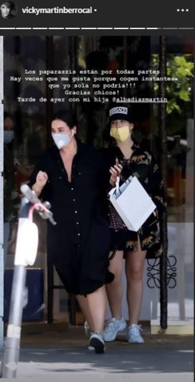 Vicky Martín Berrocal, en plena mudanza con su hija Alba Díaz