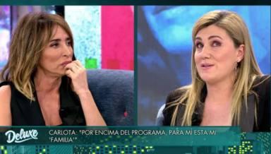 María Patiño, rota, confiesa el motivo real de su distanciamiento con Carlota Corredera: Ni nos mirábamos