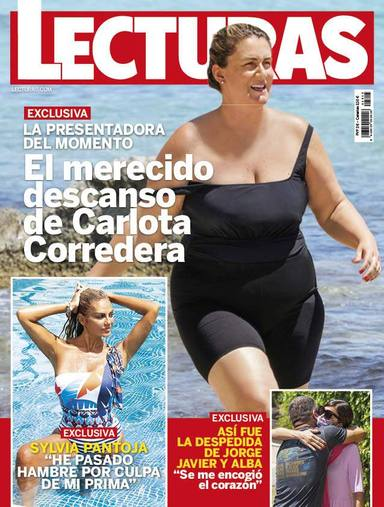 Portada de la revista Lecturas con la foto en bañador de Carlota Corredera tras un año intenso