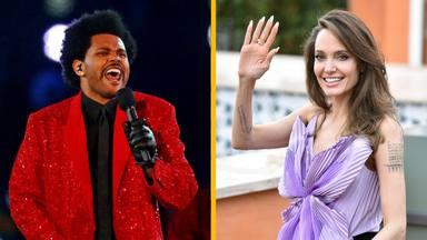 Los rumores de relación entre The Weeknd y Angelina Jolie que han durado un suspiro