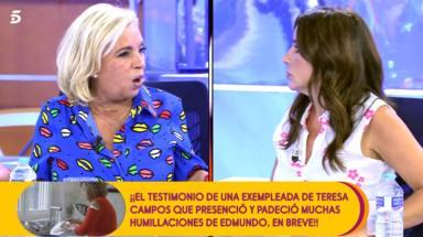 """Carmen Borrego se desata en 'Sálvame' y lanza una seria advertencia a Carmen Alcayde: """"¿Te queda claro?"""""""