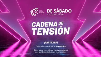Participa en el concurso 'Cadena de Tensión' de 'De Sábado con Christian Gálvez'