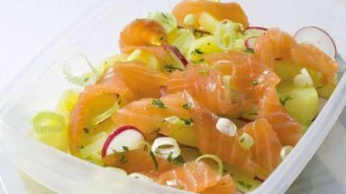 Patatas y salmón