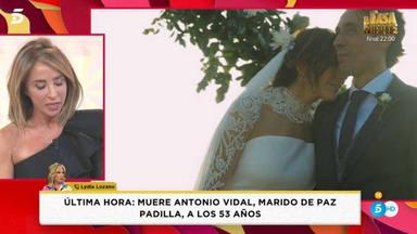 María Patiño muy afectada por la muerte del marido de Paz Padilla