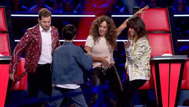 David Bisbal, Rosario Flores y Vanesa Martín bailan en La Voz Kids