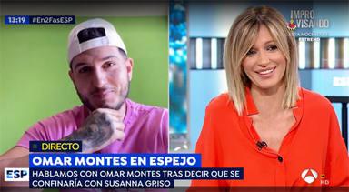 Omar Montes halaga a Susanna Griso y le saca los colores en directo