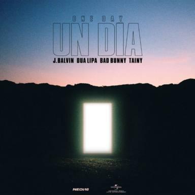 Portada oficial de Un día (One Day), la colaboración de J Balvin, Dua Lipa y Bad Bunny