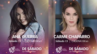Ana Guerra y Carme Chaparro invitadas confirmadas en 'De Sábado con Christian Gálvez'