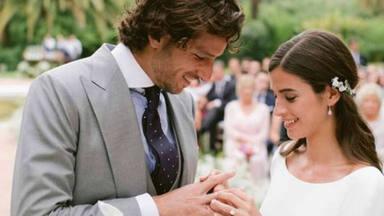 Del fiestón de cumpleaños al romántico mensaje de Feliciano López: así ha sido su boda con Sandra Gago