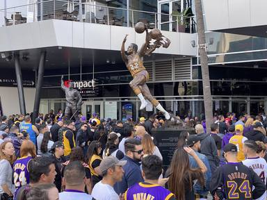 LOS ANGELES. A Celebration of Life Memorial at Staples Center.